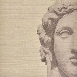 Designer Trompe L'Oeil Roman Empire Visage on Neutral Ground | Alfombras / Alfombras de diseño | Zollanvari