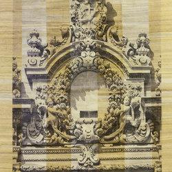 Designer Trompe L'Oeil Framed Sicilian Baroque on Stripes | Alfombras / Alfombras de diseño | Zollanvari