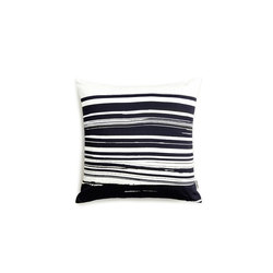 Wave & Brush Cushion Black | Cushions | NEW WORKS
