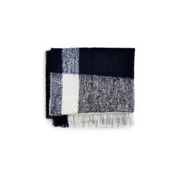 Check Throw Marine Blue Mohair Wool | Plaids | NEW WORKS