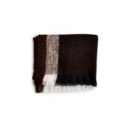 Check Throw Dark Brown Mohair Wool | Plaids / Blankets | NEW WORKS