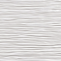 3D Wall Wave White Shiny | Ceramic tiles | Atlas Concorde