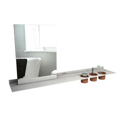 Mirror | Bath shelves | Strackk