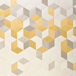 Tex runner yellow cream grey | Mosaike | Ceramiche Mutina