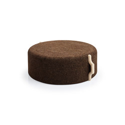 Omega Large Stool 8 | Poufs / Polsterhocker | Blackcork