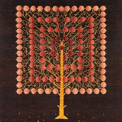 Gabbehs Flora & Fauna Square Pomegranate Tree of Life | Tappeti / Tappeti d'autore | Zollanvari