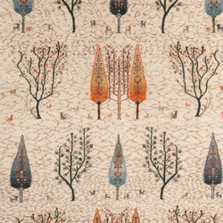 Gabbehs Flora & Fauna Multiple Trees 2 from Into The Woods | Formatteppiche / Designerteppiche | Zollanvari