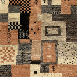 Gabbehs Geometric Abstract Squares Runner   Rugs / Designer rugs   Zollanvari