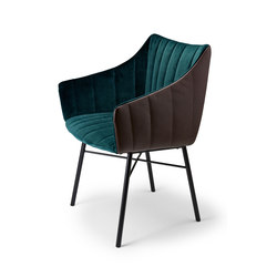 Rubie | Armchair High with steel frame 4-legs | Sedie | Freifrau Sitzmöbelmanufaktur