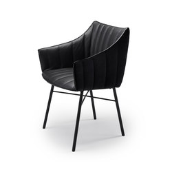 Rubie | Armchair High with steel frame 4-legs | Chaises | FREIFRAU MANUFAKTUR