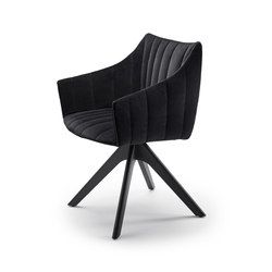 Rubie | Armchair High with wooden support frame | Chaises | FREIFRAU MANUFAKTUR