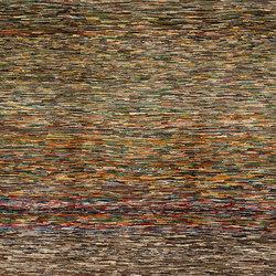 Gabbehs Geometric Quilt Recycled Abrash Stripes | Tappeti / Tappeti d'autore | Zollanvari