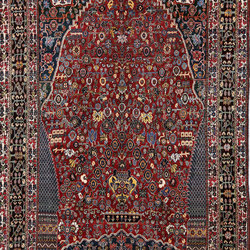 Transitional Heritage Old Bibibaft Mille Fleurs Kashkuli Bozorg | Tappeti / Tappeti d'autore | Zollanvari