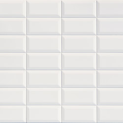 Betonbrick Wall White Diamond Glossy | Piastrelle ceramica | TERRATINTA GROUP