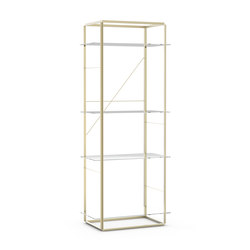 Florence Shelf Raw Gold | Large | Librerías | NEW WORKS