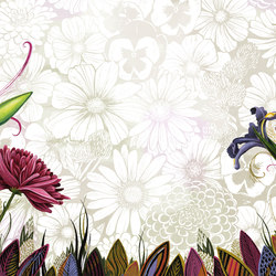 Symbiosis Flower | Bespoke wall coverings | GLAMORA