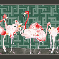 Sweet Little Dots Flamingos | Bespoke wall coverings | GLAMORA
