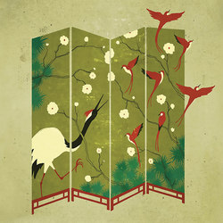 An Illustrated Life China Crane | Wall coverings | GLAMORA