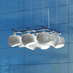 White Moons 3x3 Pendulum | General lighting | Licht im Raum