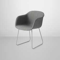 Fiber Armchair | sled base upholstered | Visitors chairs / Side chairs | Muuto