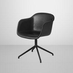 Fiber Armchair | swivel base leather | Stühle | Muuto