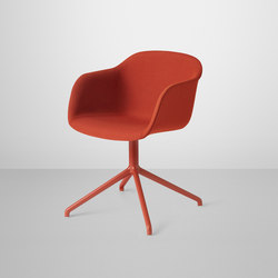 Fiber Armchair | swivel base upholstered | Visitors chairs / Side chairs | Muuto