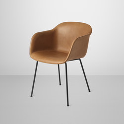 Fiber Armchair | tube base leather | Sillas de visita | Muuto