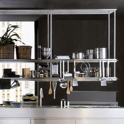Extraction Systems | LED TOUCH double shelf in stainless steel | Kitchen hoods | Arclinea