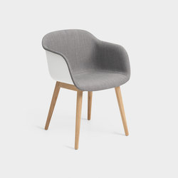 Fiber Armchair | wood base inside upholstered | Sedie visitatori | Muuto
