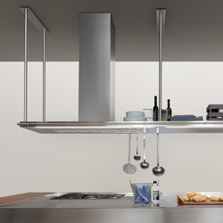 Extraction Systems | LED TOUCH single shelf in stainless steel | Kitchen hoods | Arclinea
