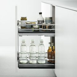 Base Units with Accessories | Pull-out base unit for bottles | Kitchen organization | Arclinea