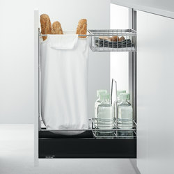 Base Units with Accessories | Pull-out base unit for bread | Kitchen organization | Arclinea