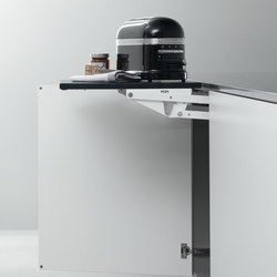 Base Units with Accessories | Base unit with internal lift-up worktop | Kitchen organization | Arclinea