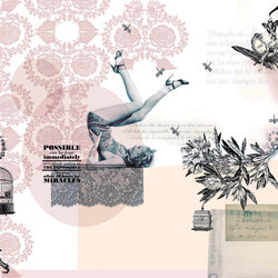 Traces Pin-up | Bespoke wall coverings | GLAMORA