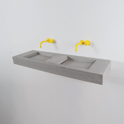 Flor Double | Wash basins | Kast Concrete Basins