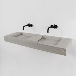 Flor Double | Lavabi | Kast Concrete Basins