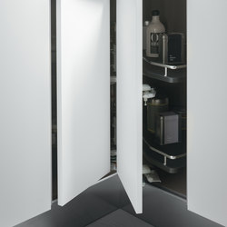 Undersink Unit | Corner base unit 90x90 cm with carousel 360° | Kitchen organization | Arclinea