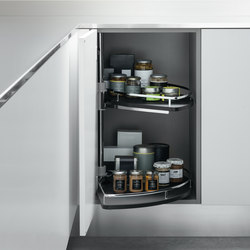 Undersink Unit | Corner base unit with baskets | Kitchen organization | Arclinea