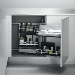 Undersink Unit | Corner base unit with pull-out door | Kitchen organization | Arclinea
