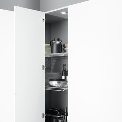 Tall Units | Corner pantry unit | Kitchen organization | Arclinea