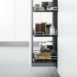 Tall Units | Pull-out pantry unit | Kitchen organization | Arclinea