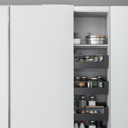 Tall Units | Coplanar pantry unit | Kitchen organization | Arclinea