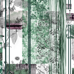 Stripes & Squares Turquoise Crush | Bespoke wall coverings | GLAMORA