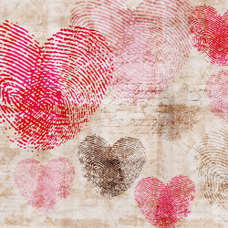 Flirt Heartprint | Bespoke wall coverings | GLAMORA