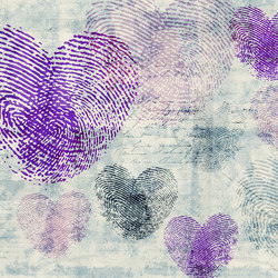 Flirt Heartprint | Wall coverings | GLAMORA