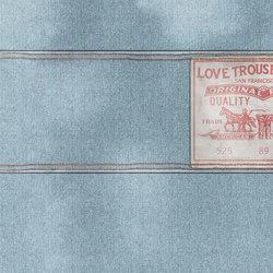 Wall Script Blue Jeans | Bespoke wall coverings | GLAMORA