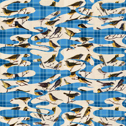 Camotartan Birds | Bespoke wall coverings | GLAMORA