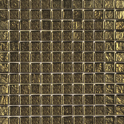 Glass gold net 25 | Glass wall tiles | ALEA Experience