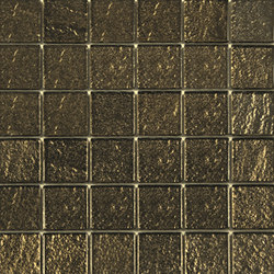 Glass gold net 50 | Azulejos de vidrio de pared | ALEA Experience