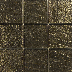 Glass gold net 100 | Azulejos de vidrio de pared | ALEA Experience